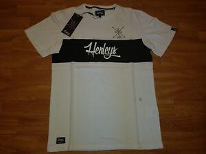 Neues-Henleys-Herren-T-Shirt-Gr-S-Weiss-Mit-Print-NEU-OVP