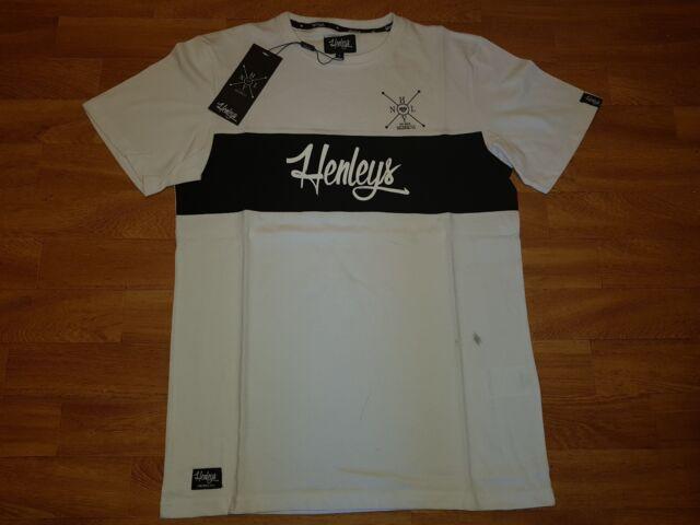 Neues Henleys Herren T-Shirt Gr S Weiß Mit Print NEU/OVP