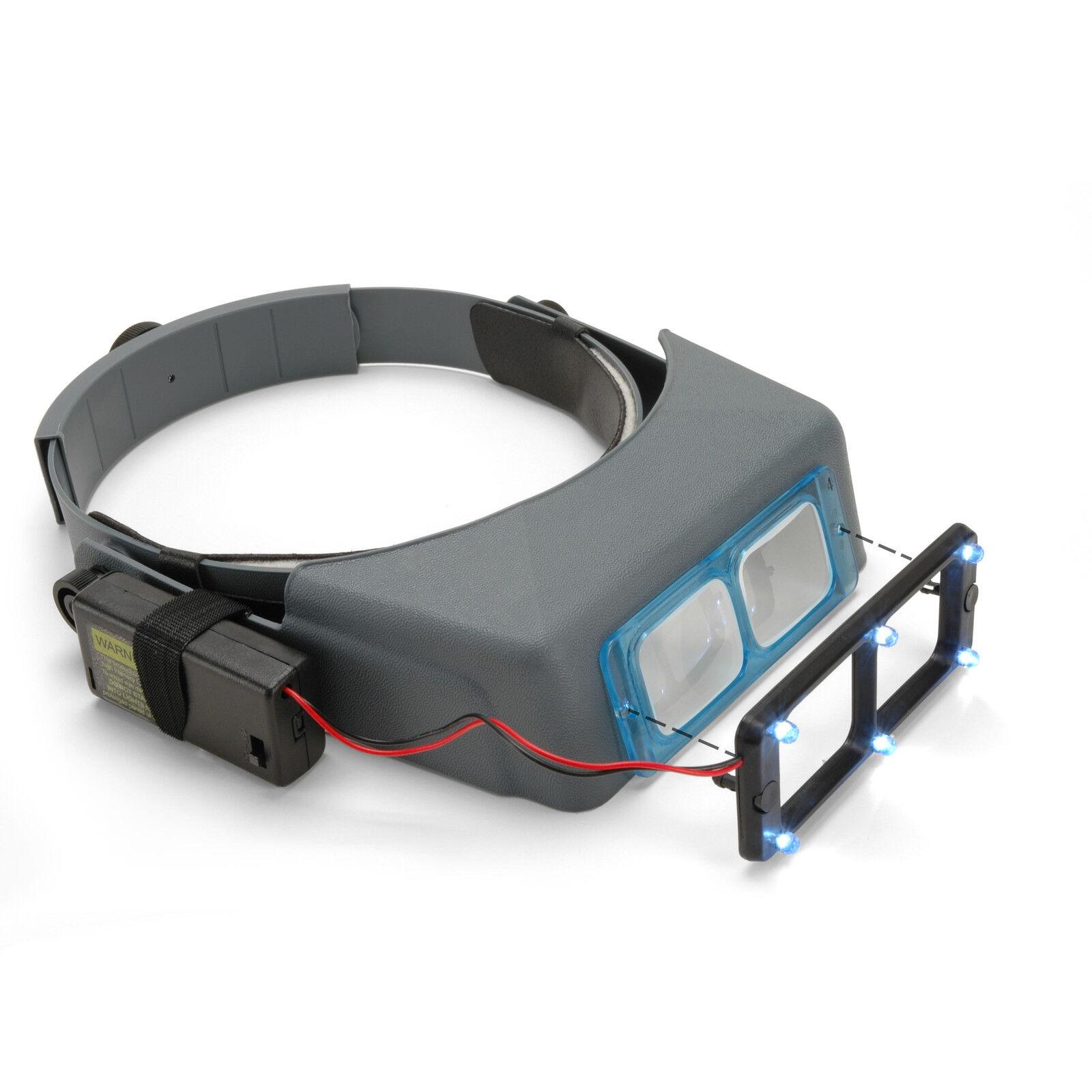 OptiVISOR Headband Magnifier, OptiVISOR Headband with Quasar LS Lights