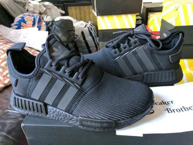 Adidas NMD R1 Nomad Runner Reflective Triple Black 3M Champs Exclusive BY3123