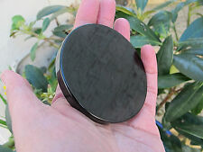 THICK Polished black OBSIDIAN SCRYING MIRROR 73X8 MMS crystal divination 100g ap