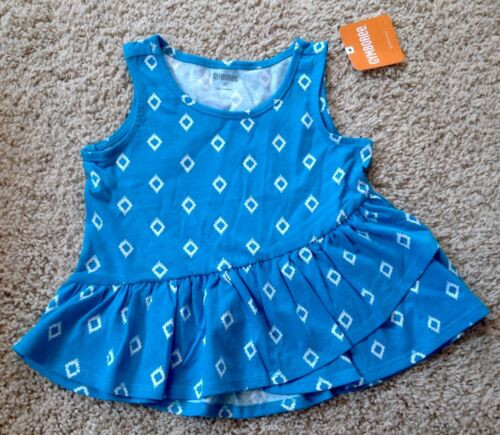 NWT Gymboree Toddler Girl 2T 3T 4T 5T Blue Diamond Shirt Top Shorts NEW