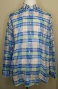 Vineyard-Vines-Classic-Fit-Tucker-Shirt-Mens-Plaid-Check-Button-Down-Blue-XL-EUC