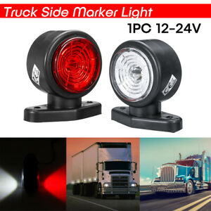 2-LED-Side-Marker-Lights-Lamp-12V-24V-Truck-Trailer-Caravan-Lorry-Red-amp