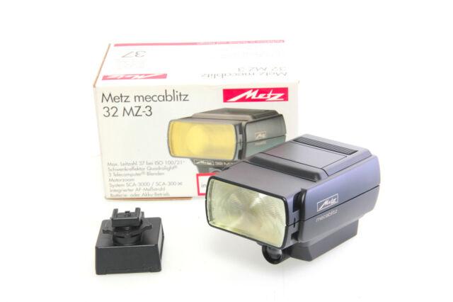 Metz mecablitz 32 MZ-3 Blitzgerät flash incl. Minolta Adapter