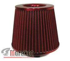 """[RED] UNIVERSAL 3""""INCH 76mm HIGH FLOW COLD AIR SHORT RAM INTAKE FILTER DRY CONE"""