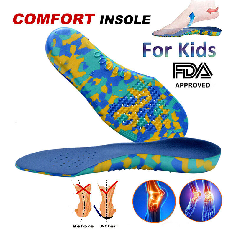 Plantillas Niños Pies Planos Kids Orthopedic Insoles  Flat Foot Arch Support