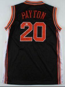 Gary Payton Signed and Inscribed Oregon State Basketball Jersey PSA Hologram