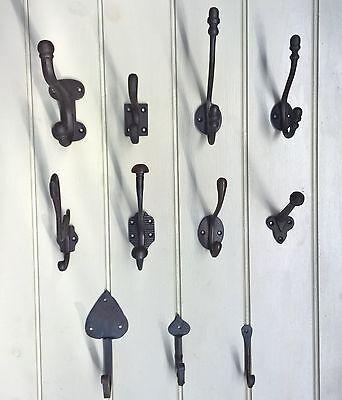 Ganchos de Abrigo Vintage De Hierro Fundido Tradicional Black Swan peces Victoriano Pequeño