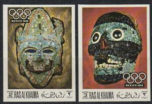 Ras AL KHAIMA 1969 ** mi.347/48 B OLIMPIADI OLYMPIC GAMES SPORT MESSICO