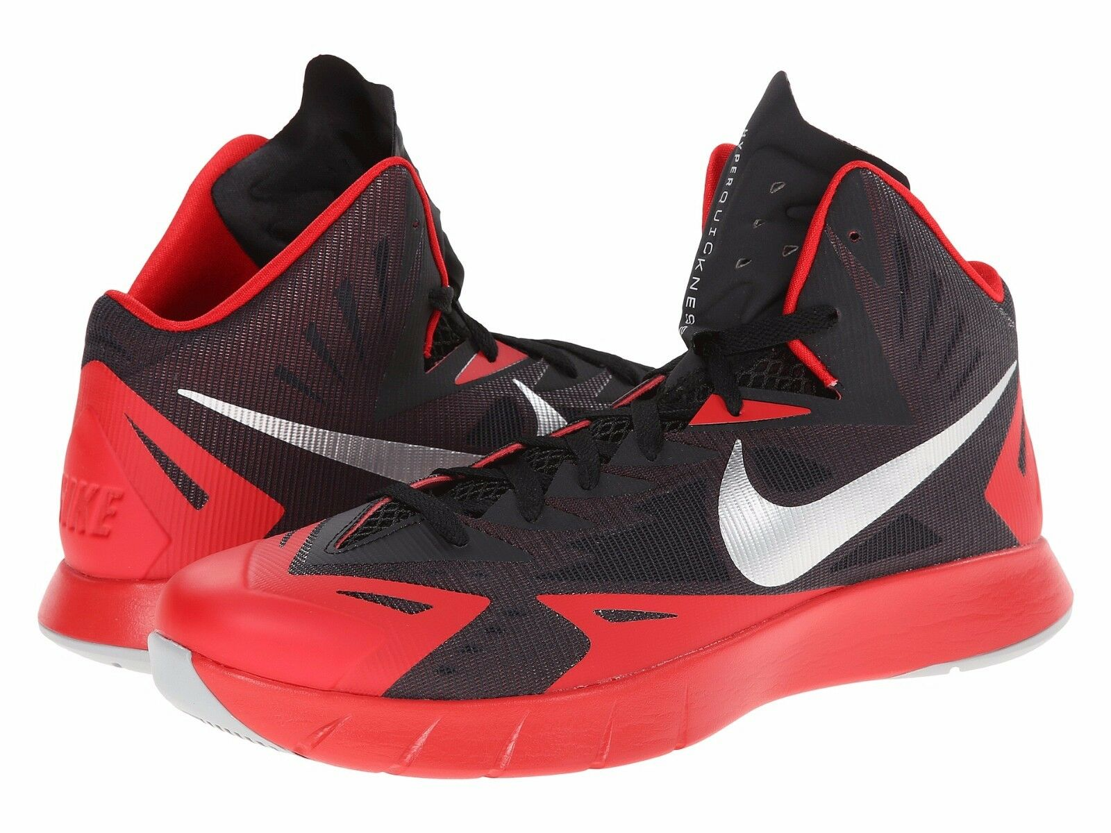 Men's Nike Lunar Hyperquickness Basketball shoes, 652777 006 Sizes 8-13 Blk Red