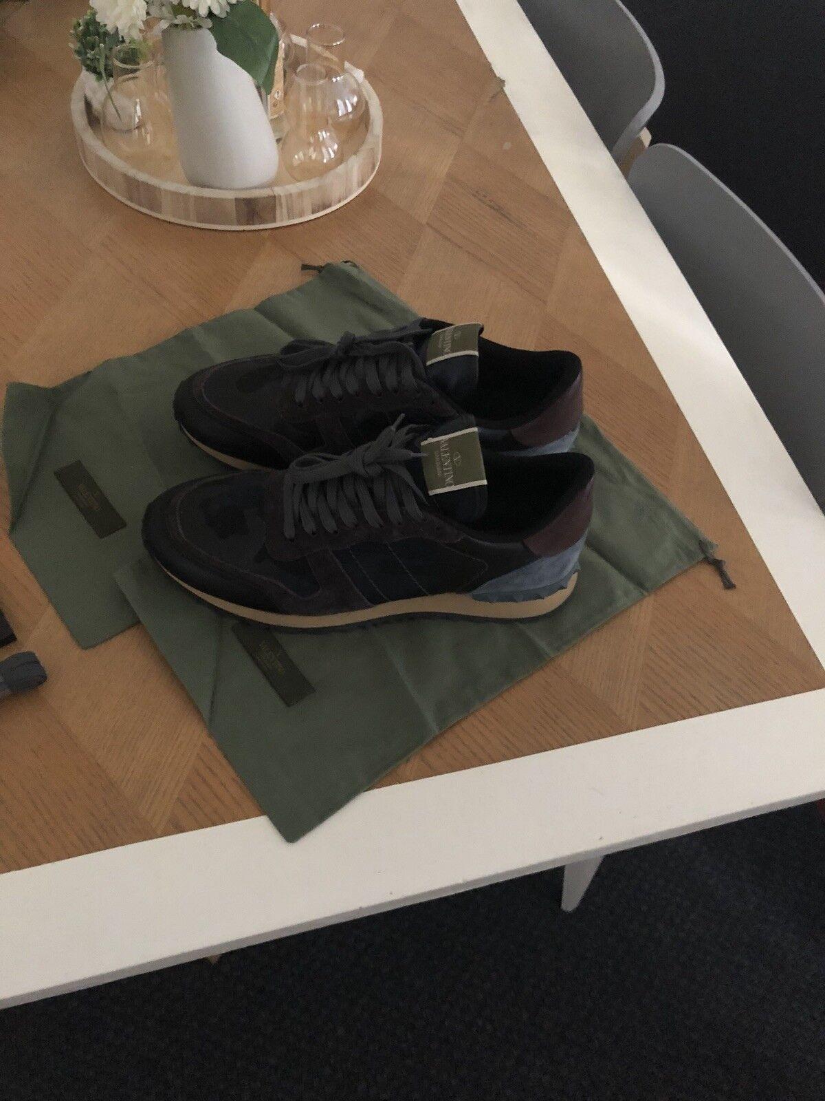 Valentino scarpe da ginnastica Rockrunner Tonal Marine Camo 10us 44 Eu