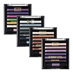 MILANI-Metallic-Runway-Baked-Eyeshadow-Palette-Purple-Pink-Gold-Green-Blue-Red