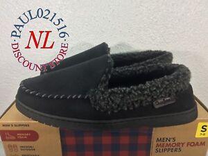 ! Dearfoams Men/'s Memory Foam Indoor//Outdoor Slippers ~Black ~ Various Sizes