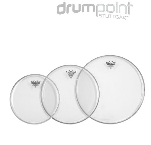 "Remo Propack Fellsatz 12/"" 13/"" 16/"" Ambassador clear Drumheads"