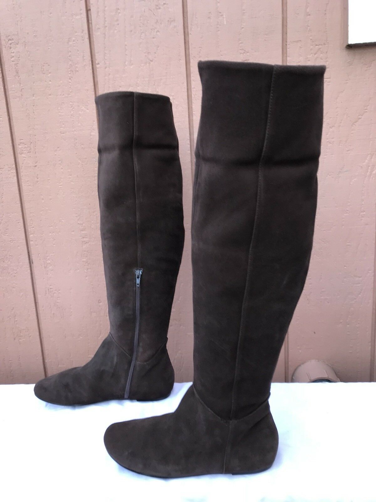 RARE EUS Steve Madden GITZU Over the Knee Boot Boot Boot Brown Suede Women's Size US 8 7b2fa8