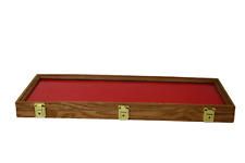 Oak Wood Display Case 9 X 25 X 2 For Arrowheads Knifes Collectibles Amp More