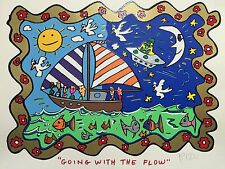 "James Rizzi: original ""GOING WITH THE FLOW"", handsigniert, kein 3D - vergriffen"