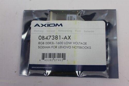 Axiom 0B47381-AX 8GB DDR3L-1600 Low Voltage SODIMM For Lenovo Notebooks