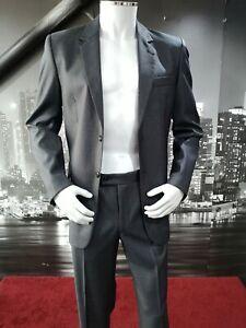 New Simple Grey Striped Suit Chest 41 Waist 32 Work Wedding Funeral Ebay
