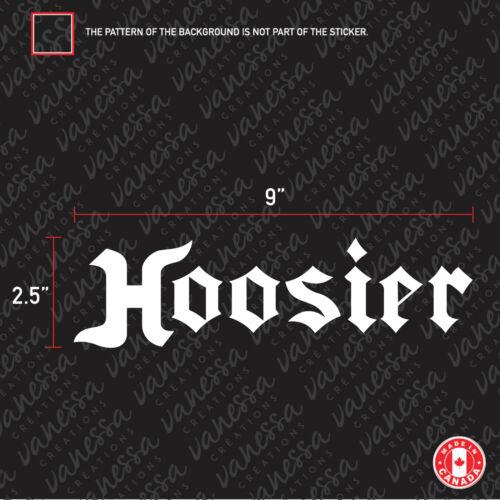 2X HOOSIER TIRE BRAND CAR sticker vinyl decal