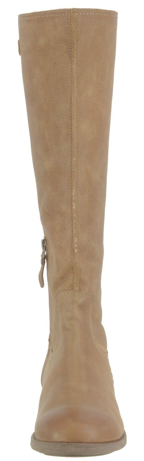OLUKAI SAMPLE WOMENS KAILA SUEDE LEATHER KNEE HIGH LACE UP BOOTS  US 7 EUR 37