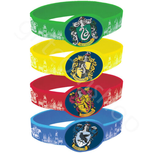 Harry Potter Silicone Bracelets Wristbands Kids Birthday Party Bag Fillers x 4