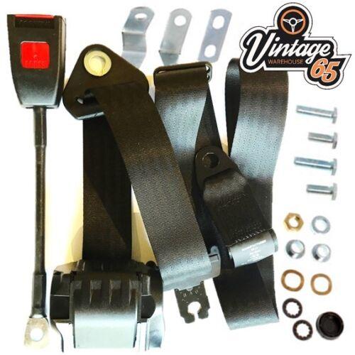 Jaguar Xj6 Series 1 2 Saloon Front Automatic Grey 3 Point Inertia Seat Belt Kit