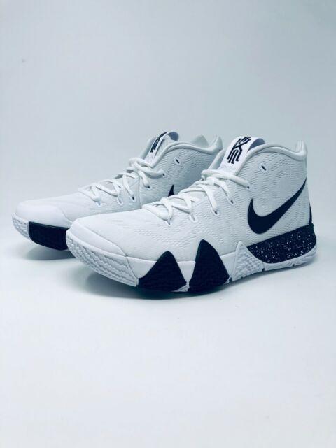 cheap for discount 77946 3120a Nike Kyrie 4 TB Basketball Shoes Size 9 Mens White Black Av2296 100