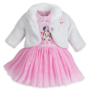 a984c56e0 Disney Store Minnie Mouse Fancy Dress Set for Baby Fluffy Coat ...