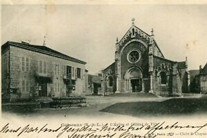 Carte-CUISEAUX-Eglise-et-Hotel-de-Ville