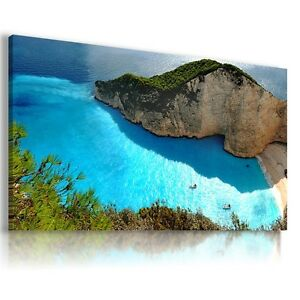 GREECE-SEA-PERFECT-View-Canvas-Wall-Art-Picture-Large-SIZES-L47-X