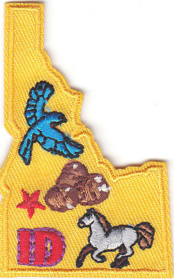 """/""""BOISE IDAHO/"""" State Shape Capitol City Iron On Printed Patch"""