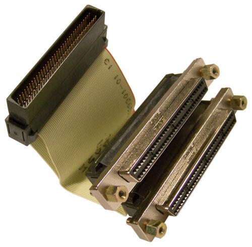 IBM 7210-025 HD68M-to-2HD68F Internl SCSI Cable 74G8270 D46723 Internal SCSI-3 C