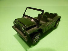 DINKY TOYS 601 AUSTIN MINI MOKE  - ARMY GREEN 1:55? - GOOD - MILITARY