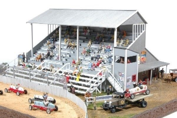JL Innovative 551 HO Riverside Speedway Grandstand Wooden Kit