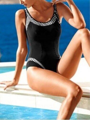 Nuoto Gr da up bagno bianco a check motivo 38 Costume Sunflair nero 36 quadretti con 6YwHqHdx