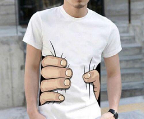 Greifende Hand T-Shirt weiß Baumwolle große Hand auf TShirt  übergroße Hand S//M