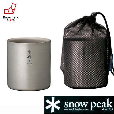 Snow Peak Titanium Empilage Tasse H450 TW-1 Made in Japan Free Ship