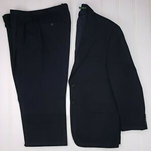 Lauren-Ralph-Lauren-Navy-Blue-Suit-43R-Two-Button-Mens-Size-Wool-Canada-Vented