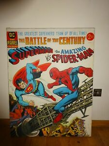 Large-Comic-Oil-Painting-Superman-Vs-Spider-man-1-04-x-0-8-metre