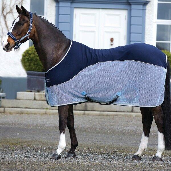 Horseware RAMBO Sport Cooler-Navy Beige, Baby blu & Navy-abschwitzdecke