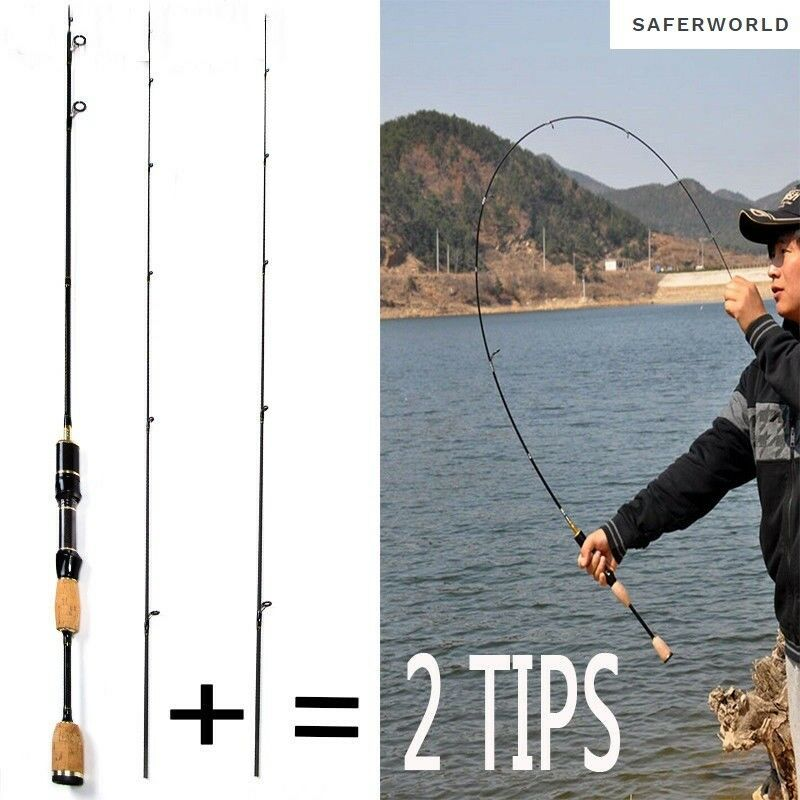 1.8M 2 Tips Spinning  Rod Fishing Boat Flexible High Carbon Fibers Lure Carp Sea  counter genuine