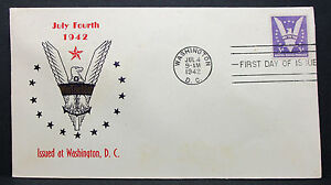 US-Patriotic-Cover-FDC-Washington-Win-the-War-Stamp-3c-USA-First-Day-H-7513