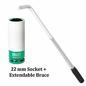 ExtendableTelescopic-Brace-22mm-Impact-Alloy-Wheel-Socket-Tyre-Nut-Wrench