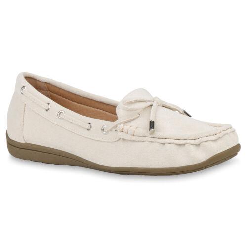 Damen Mokassins Wildleder-Optik Slipper Bequeme Slip On Schuhe 832664 Trendy