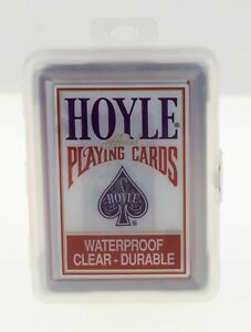 HOYLE Waterproof Clear Plastic Playing Cards in Box RARE RED COLOR 2011 Sealed