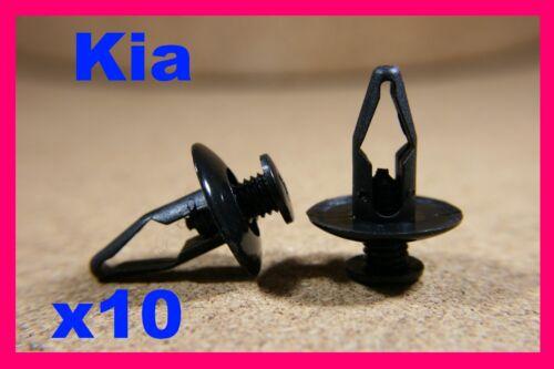 For KIA 10 bumper fender fascia panel splash inner lining fastener clips