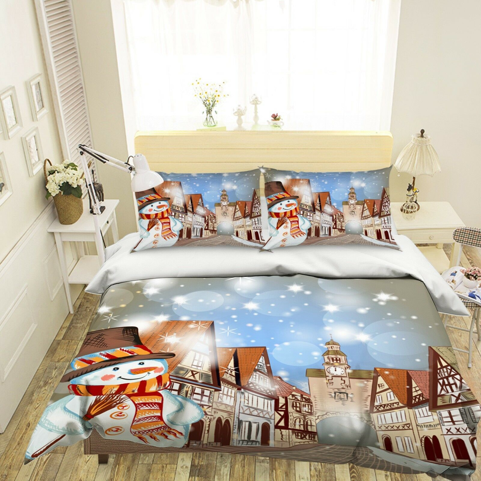 3D Christmas Xmas 508 Bed Pillowcases Quilt Duvet Cover Set Single Queen King AU