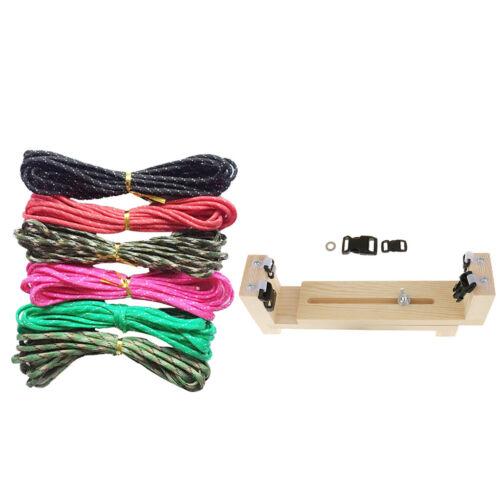 6 Parachute Cord Wood Jig Bracelet Maker Paracord Wristband Knitting Tool